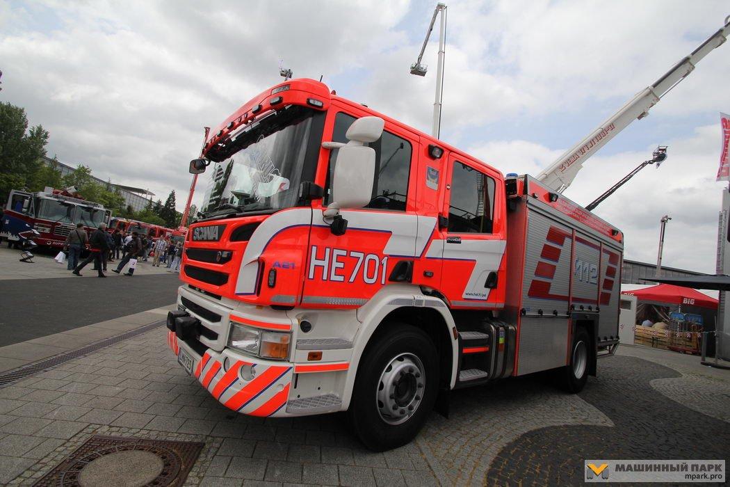 Пожарные Scania на выставке Interschutz-2015